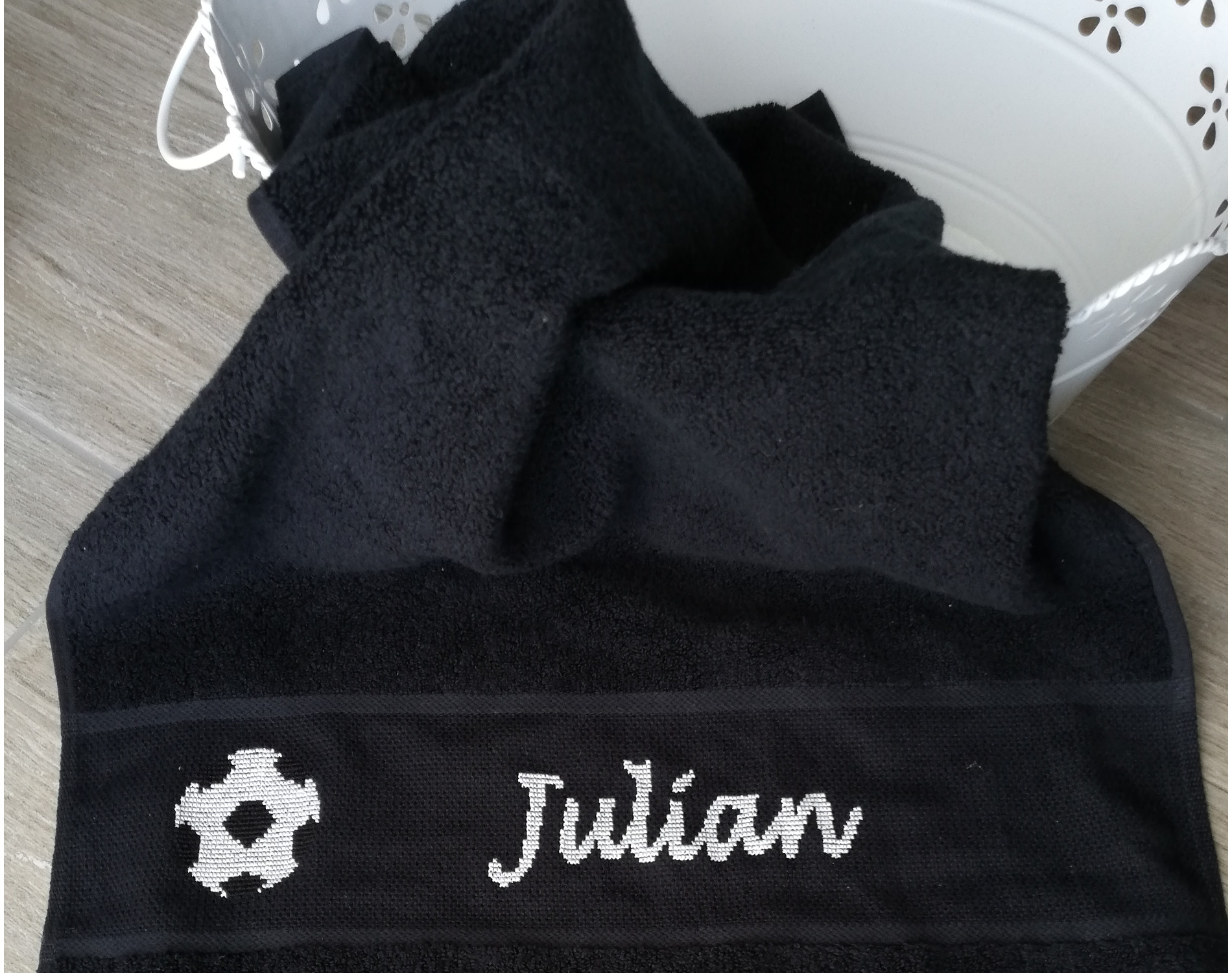 Handtuch Fußball personalisiert